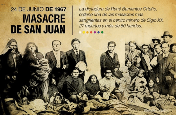 Masacre de San Juan, población minera y sus muertos – junio 1967