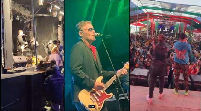 Huachacalla no cumple cuarentena y celebra fiesta patronal con famoso dúo alemán Modern Talking
