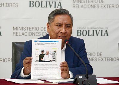 Canciller dice que hermana de Arturo Murillo debe al Estado cinco pasaportes diplomáticos