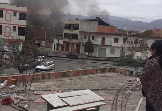 Una casa deshabitada se incendia en el barrio San Bernardo, no existen daños personales