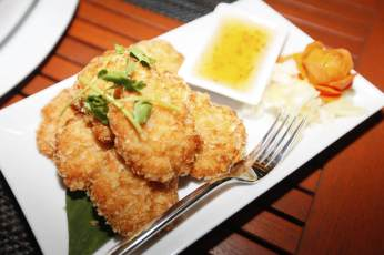 fried shrimp cake at Kantary Bay Resort