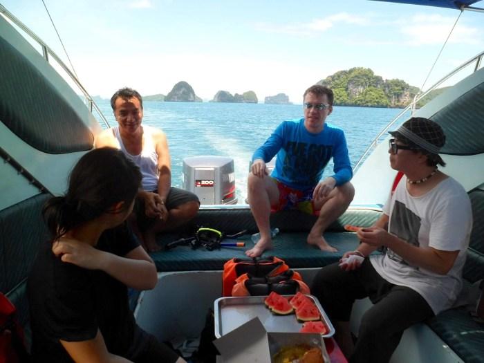 leaving Hong islands