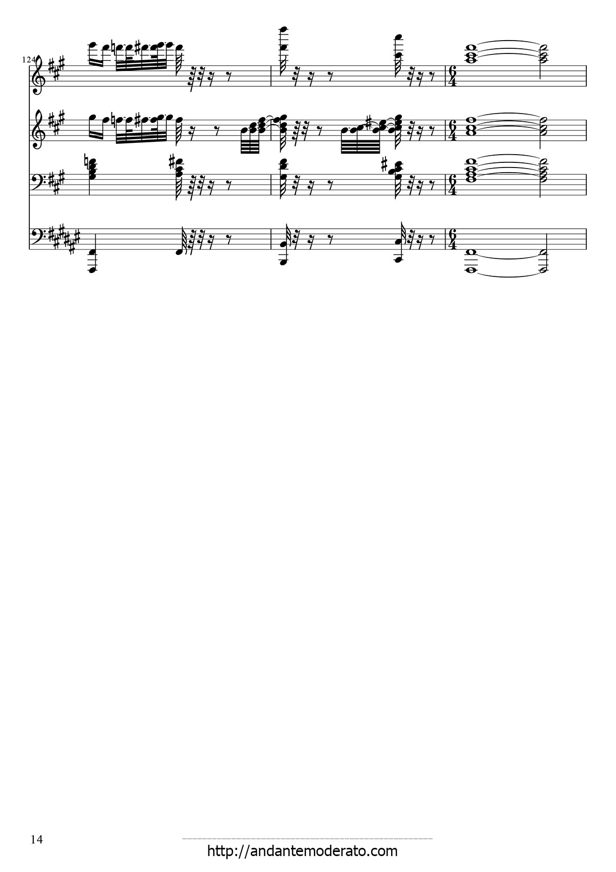 Johannes Brahms Hungarian Dances 5 Sheet 14 Of 14