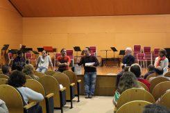III Encuentro Guitarra Suzuki - El equipo docente ultimando el concierto