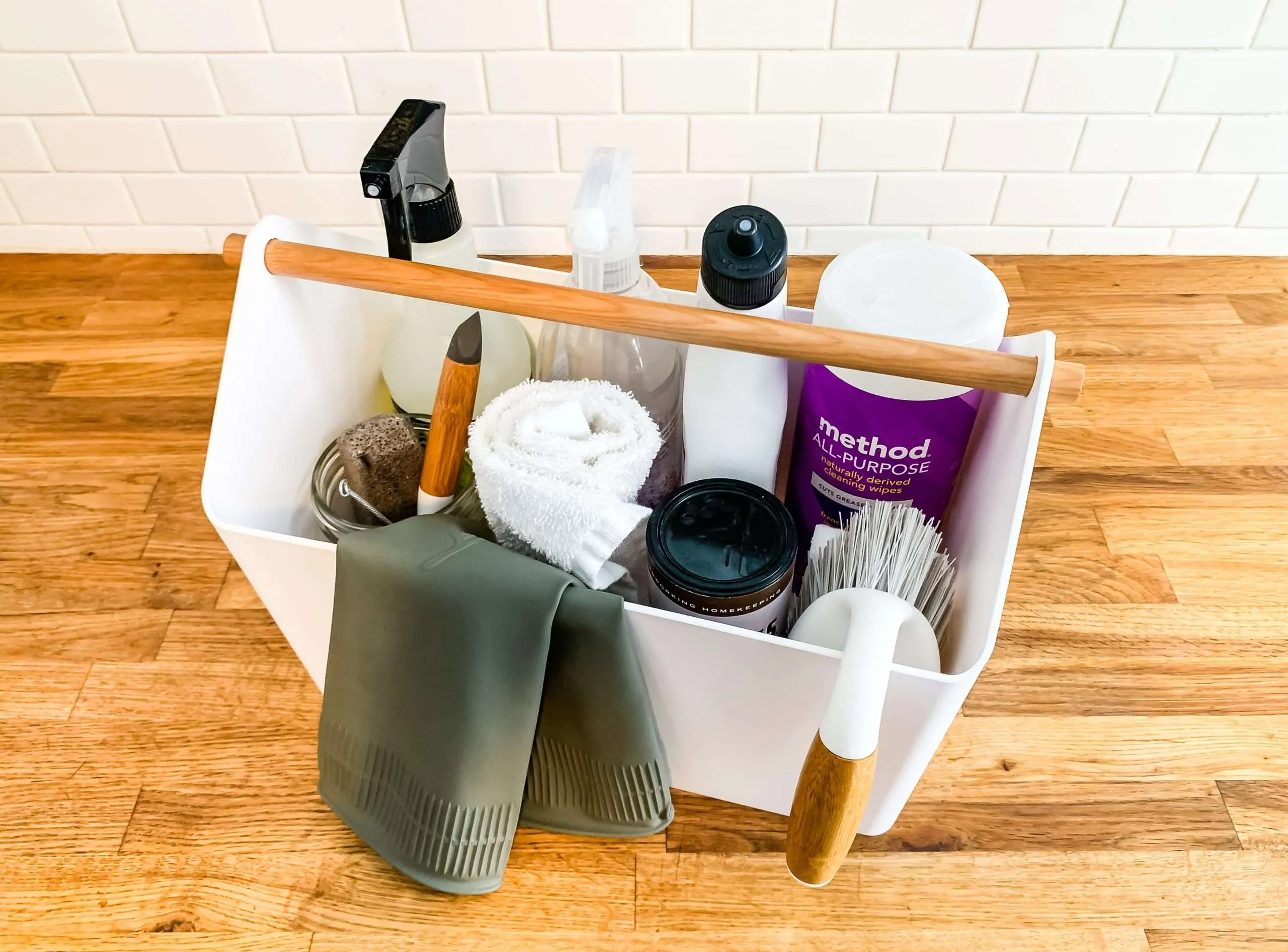 organize your cleaning caddy