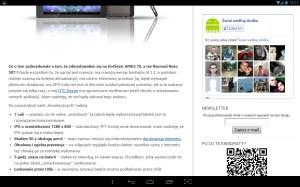 Android 4.2.2 - przeglądarka systemowa