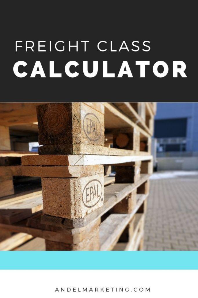 Use a freight class calculator to determine the right class for your shipment #freight #freightshipment #freightclass #transportation