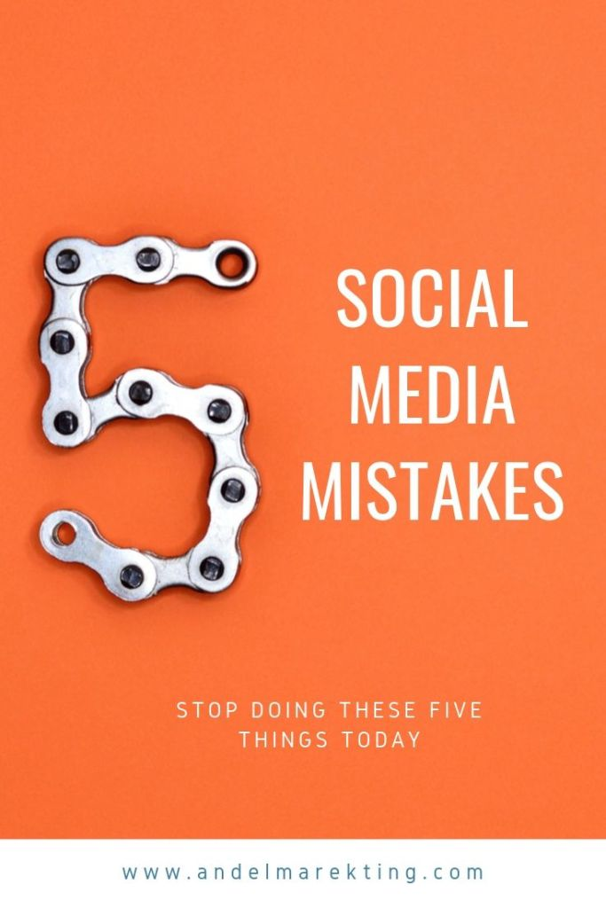 Don't make these five mistakes with your social media accounts #socialmedia #marketing