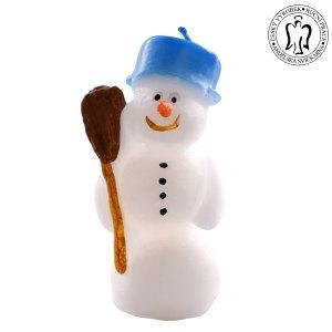Vánoční svíčka - sněhulák, vánoční svíčky, Andělská svíčkárna, Christmas candles, snowman, Angels candles 01