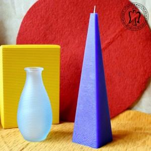 Modrý jehlan, svíčky e-shop,svíčky, Andělská svíčkárna, blue, pyramid, candle e-shop, Angels candles M5