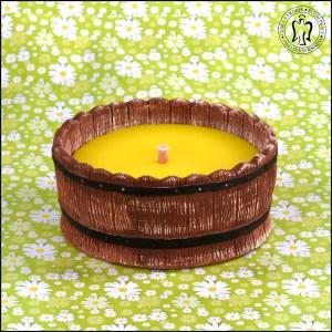 Vědro - zahradní letní svíčka - odpuzovač komárů - citronela