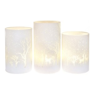 Skleněná svítící LED lampa, Andělská svíčkárna, Glass lighting LED lamp, Angels candles