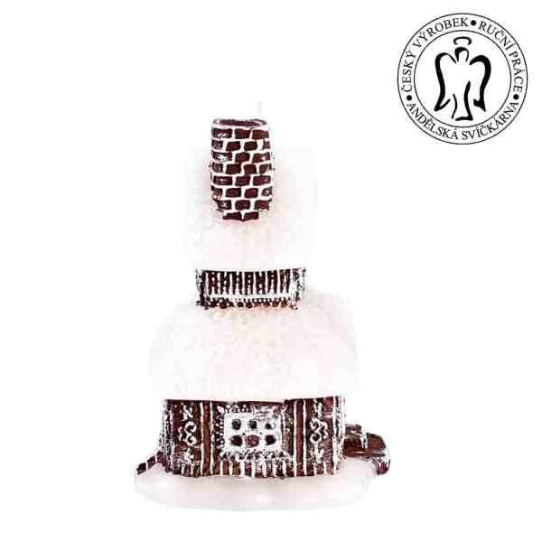 Vánoční svíčka Chaloupka, svíčky vánoční, dekorační svíčka, svíčka pro babičku, Christmas candle Cottage, candle cottage 01