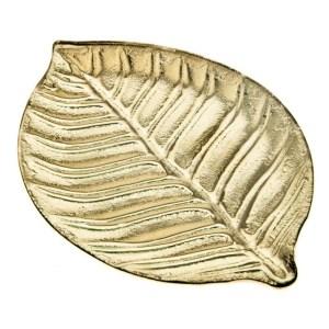 Skleněný tác ve tvaru listu, zlatý tác, skleněný podnos, Glass tray in the shape of a leaf, golden tray, glass tray, velký