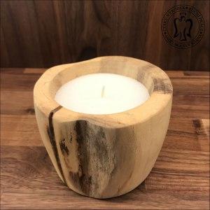 Luxusní svíčka, dřevěná svíčka, dřevěná dekorace, Luxury wooden candle 01