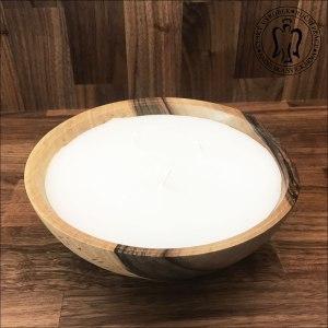 Luxusní svíčka ve dřevěné misce, dřevěné doplňky do bytu, dekorace drevo, dekorace, 01