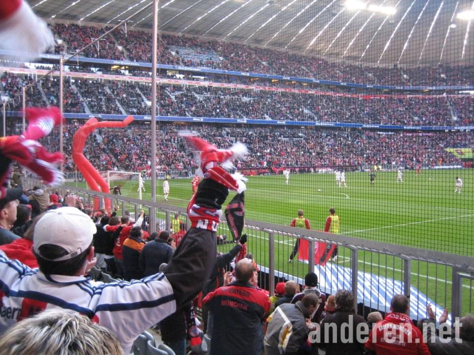 Bundesliga 2007/08 Week 25: FC Bayern München vs Bayer Leverkusen at Allianz Arena, Südkurve, Projekt Anderen