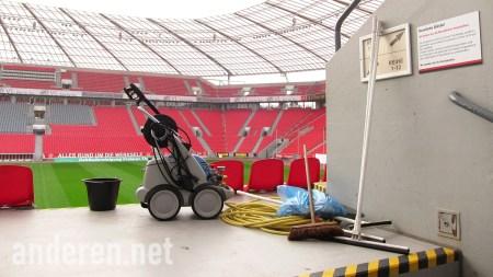 A non-matchday in BayArena, Leverkusen, Germany. Geisterspiel, Projekt Anderen. 拜耳球場, 利華古遜, 德甲球場,