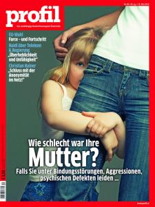 """profil"" cover, May 12, 2014. Christian Rainer demands ""Schluss mit der Anonymität im Netz!"" (""No more Internet anonymity!""). — Image courtesy of profil"