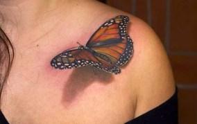 butterfly on shoulders