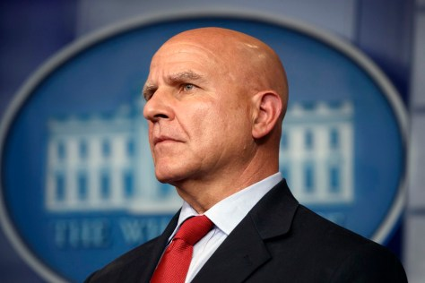 "H.R. McMaster, former U.S. National Security Adviser, ousted on April 9, 2018 for being ""anti-Israel."" Image courtesy of AP/Evan Vucci."