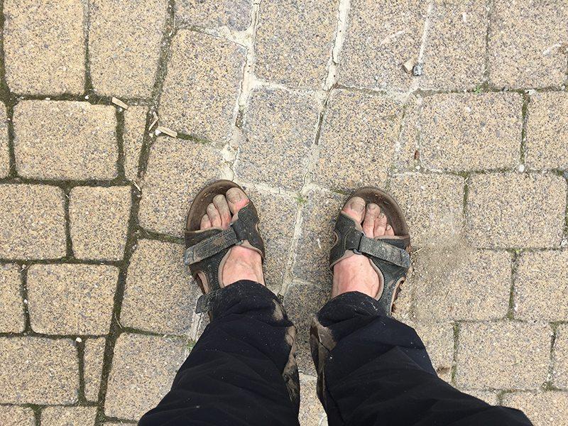 Meine armen Füße: Sie alleine wissen, wie schwer es war (Foto: Hans-Joachim Schneider)