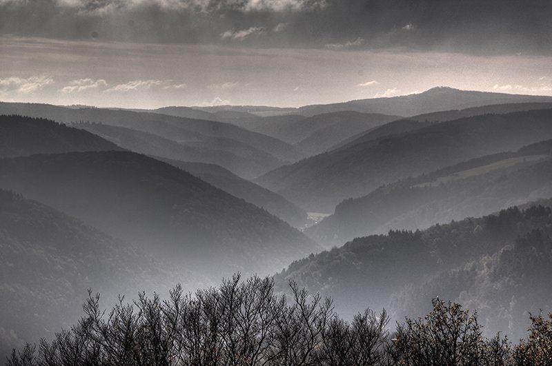 Hier steht ein Bild mit dem Titel: Panorama vom Steinerberg, Variation (Foto: Norbert Schneider)