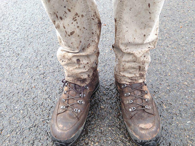Hier steht ein Bild mit dem Ttel: Matsch as Matsch can – reichlich nasse Tour im Hohen Venn mit meinen Lowa-Bergschuhen (Foto: Hans-Joachim Schneider)