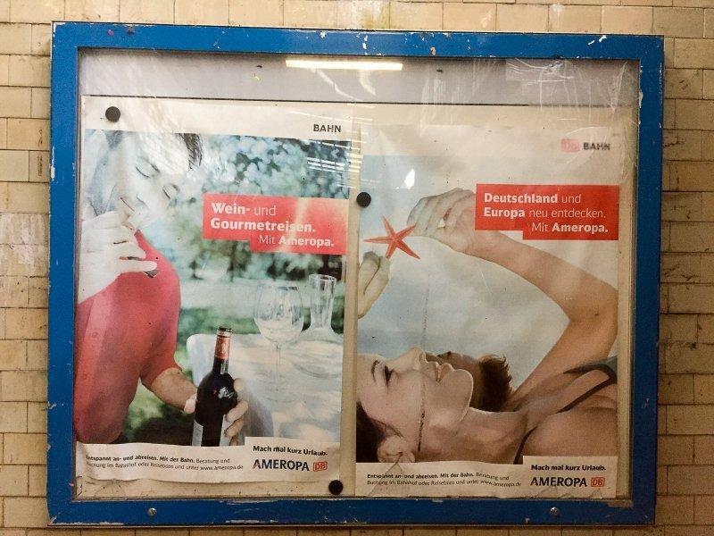 raumhaft oder doch eher Trauma: Werbung für Urlaub mit der Bahn (Foto: Hans-Joachim Schneider)