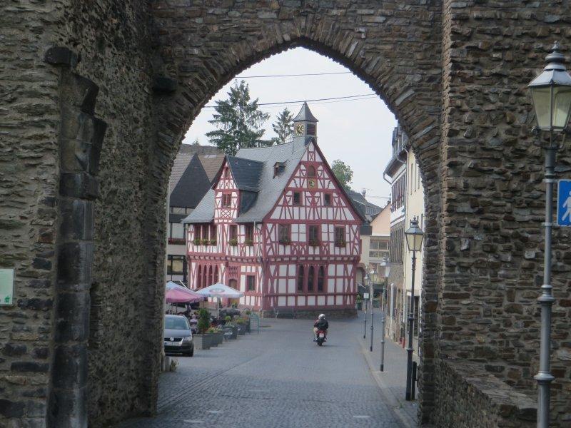 Stadtmauer, Stadttor, Fachwerk, Mittelalter, Rhens