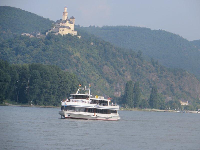 Rhein, Schiff, Burg, Marcksburg, Rhens, schifffahrt