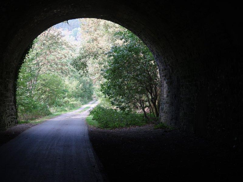 Tunnel, Licht, Tageslicht, Ahrtalweg, Ahrtal erleben
