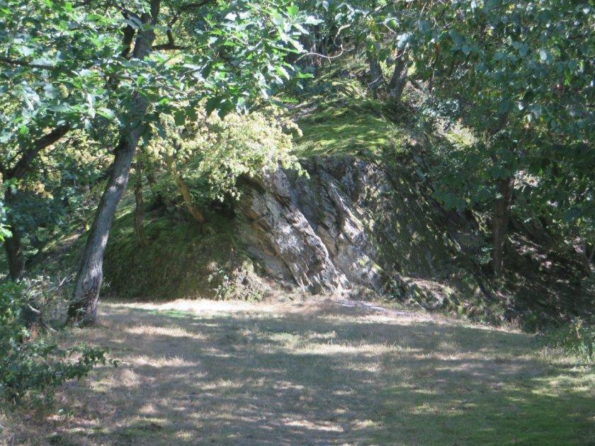 Ein kleines Plateau mitten im Wald, von der Sonne beschienen, vermittelt Frieden und Ruhe.