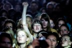 """BRIGHT EYES PLAYS AT ROSKILDE. Danish rock festival """"The Roskilde Festival"""" open the gates for the 90.000 guests at the week long festival. Major names include; Portishead, PJ Harvey, Kings Of Leon, Arctic Monkeys, Iron Maiden, M.I.A., The Strokes"""