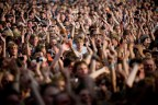 "ARCTIC MONKEYS plays at Roskilde. Danish rock festival ""The Roskilde Festival"" open the gates for the 90.000 guests at the week long festival. Major names include; Portishead, PJ Harvey, Kings Of Leon, Arctic Monkeys, Iron Maiden, M.I.A., The Strokes"