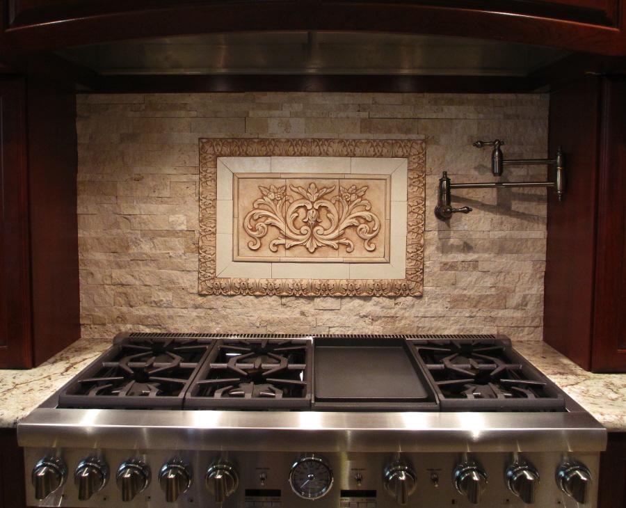 medium tiles for kitchen backsplash