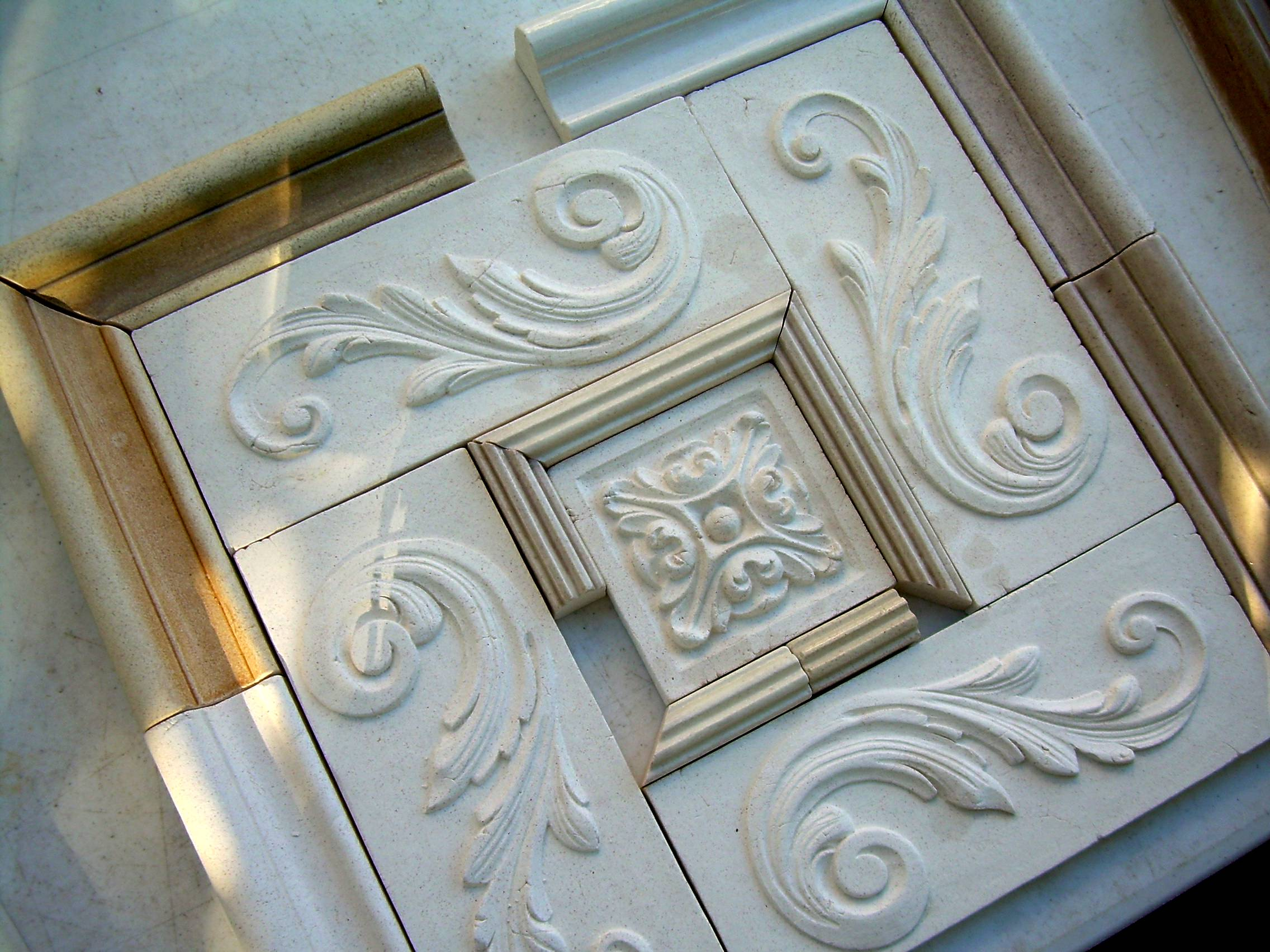 Small Relief Tiles, Stone Insert Designs, Kitchen