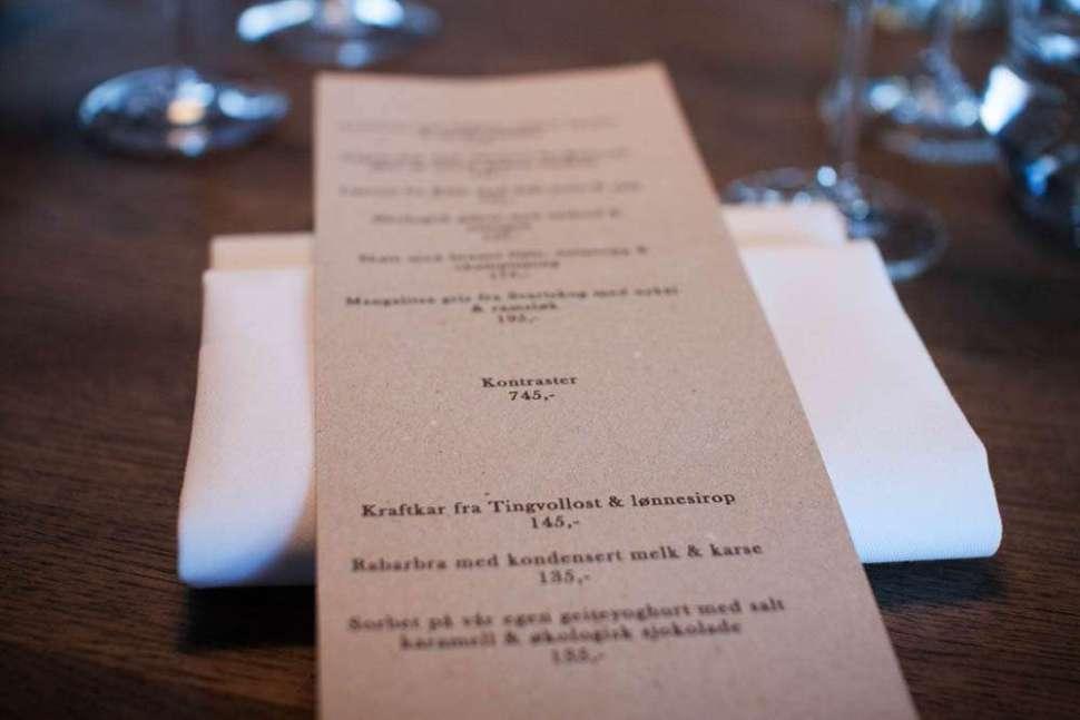 The Kontrast menu.