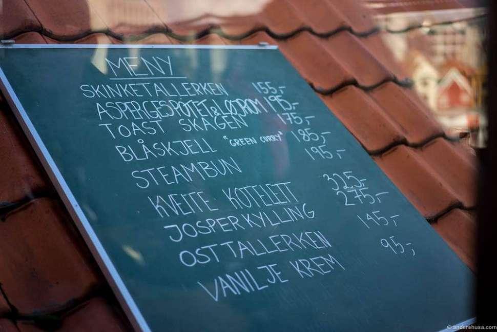 The rooftop menu at Tango