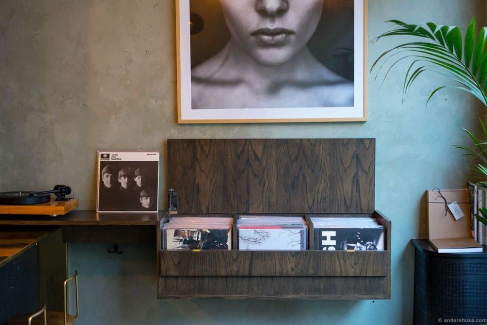 The vinyl selection at Territoriet.