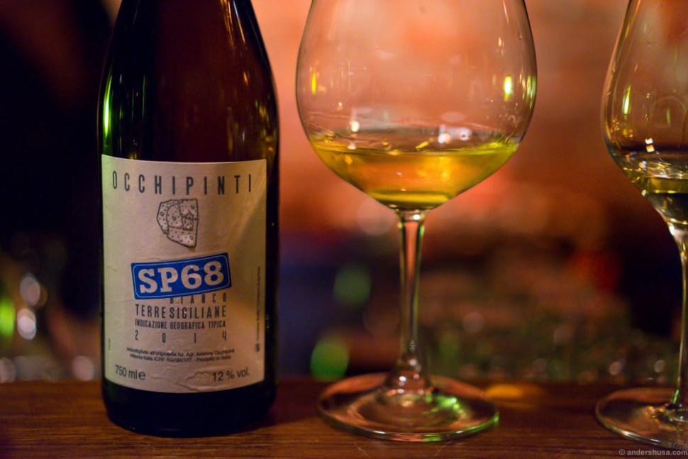 Occhipinti SP68 Bianco. Whiskey aroma