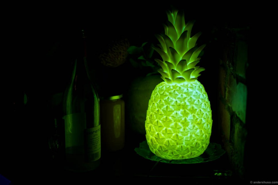 The pineapple in the bar
