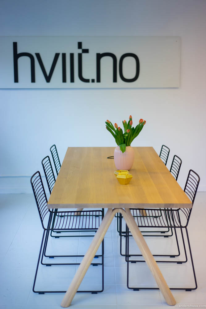 Interior design by hviit.no, which also sell their items in the store