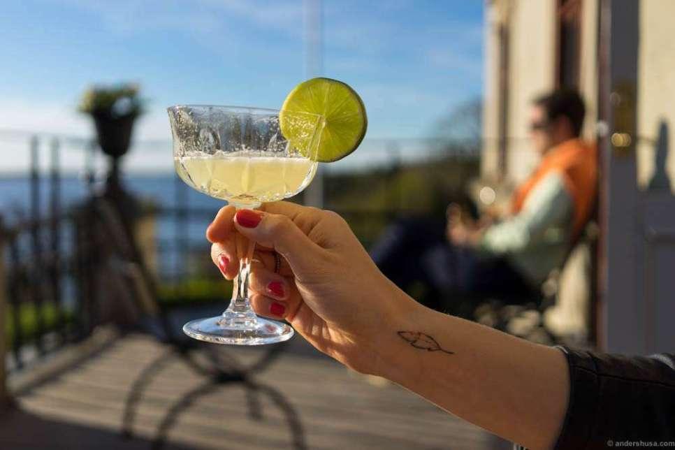 Drinks on the royal balcony