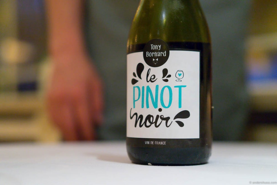 Le Pinot Noir Tony Bornard 2013.