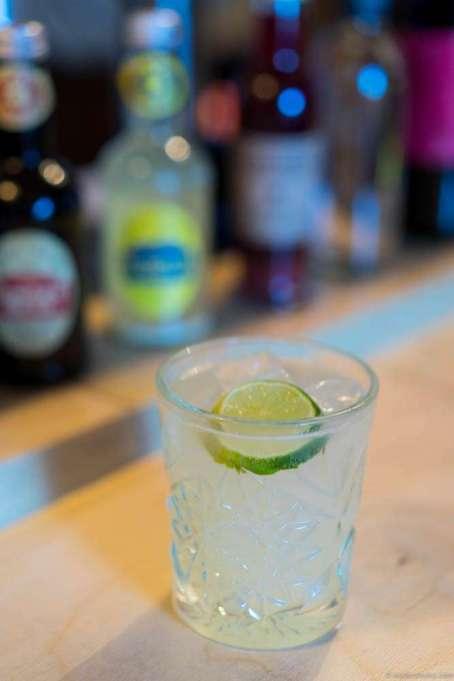 A yuzu cocktail in the bar.