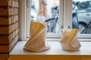 Thinware porcelain tea light holders from the neighboring store Keramiker Inge Vincents