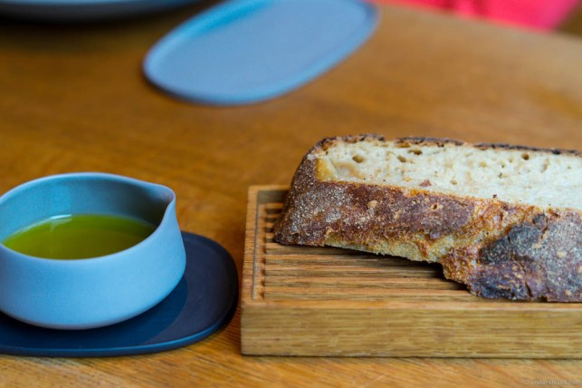 The Relæ sour dough bread. Served with olive oil – Italian style