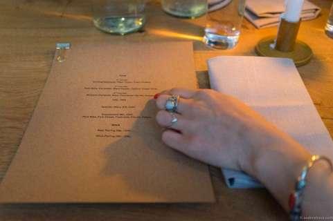 The choice between a beer menu and wine menu was easy at a beer bar