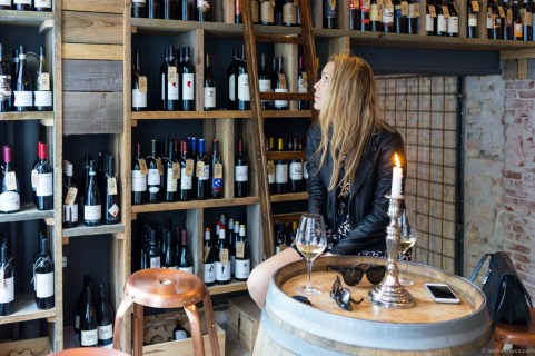 You're basically sitting in the wine cellar at S'Vineriet